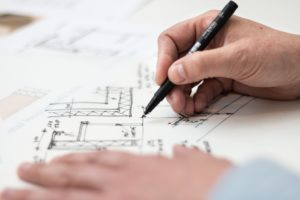 architect drawing plans