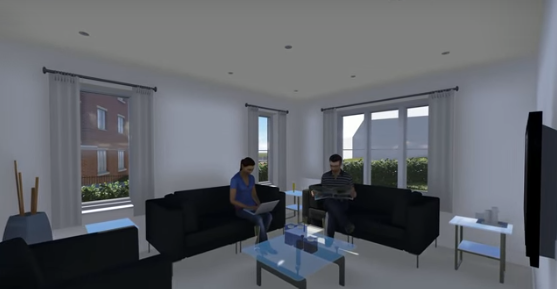 3d walkthrough living room