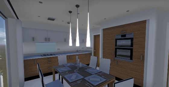 3d walkthrough kitchen
